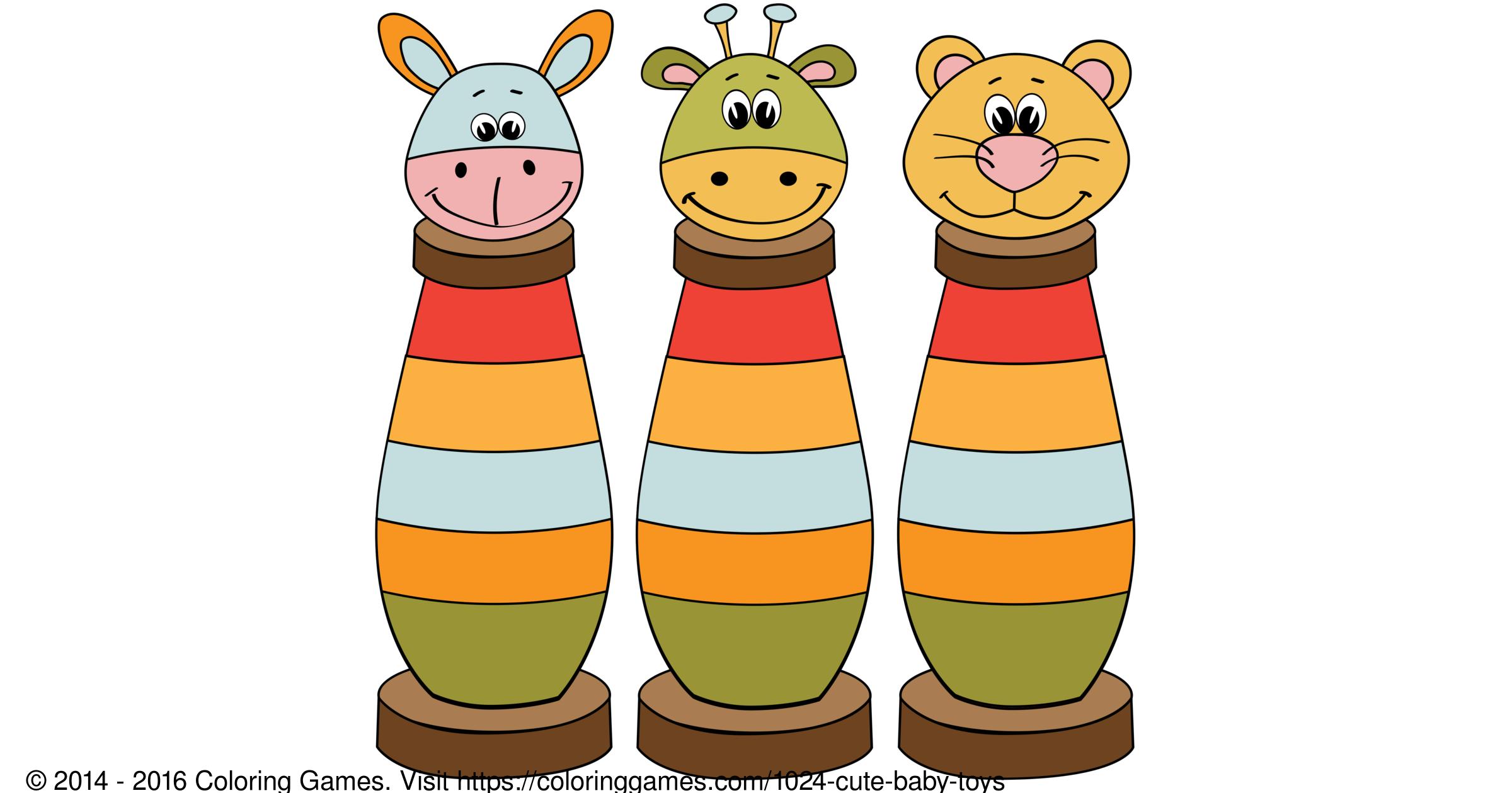 Cute Baby Toys Boyama Oyunları Ve Boyama Sayfaları