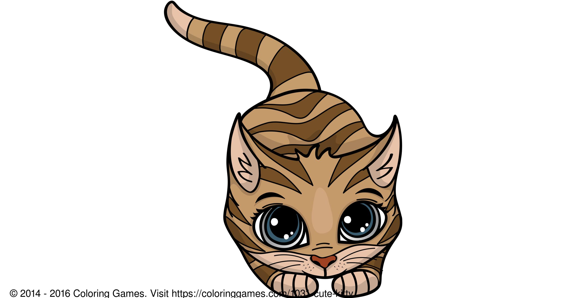 Cute Kitty Boyama Oyunları Ve Boyama Sayfaları