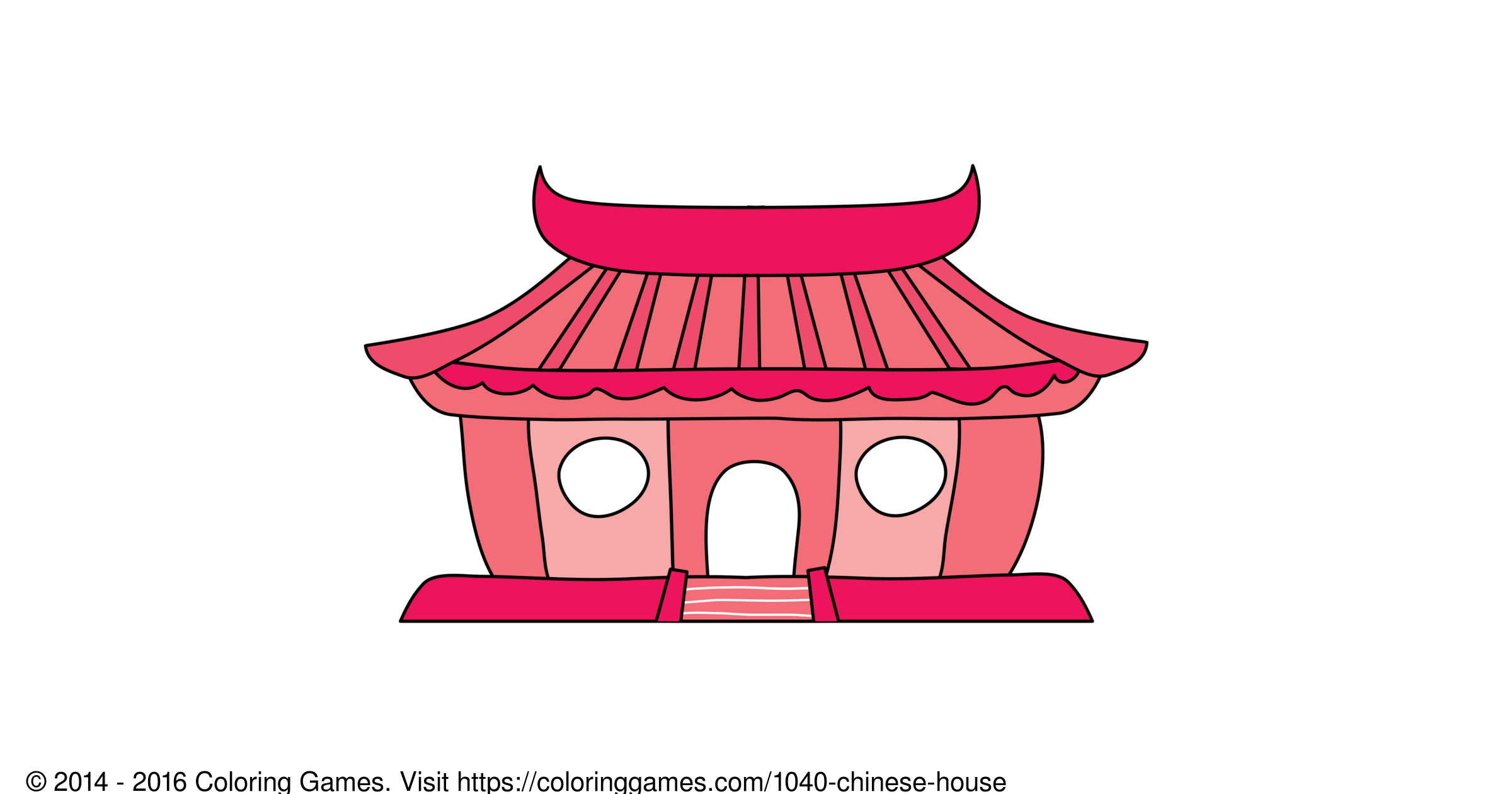 Chinese House - Coloring Games and Coloring Pages