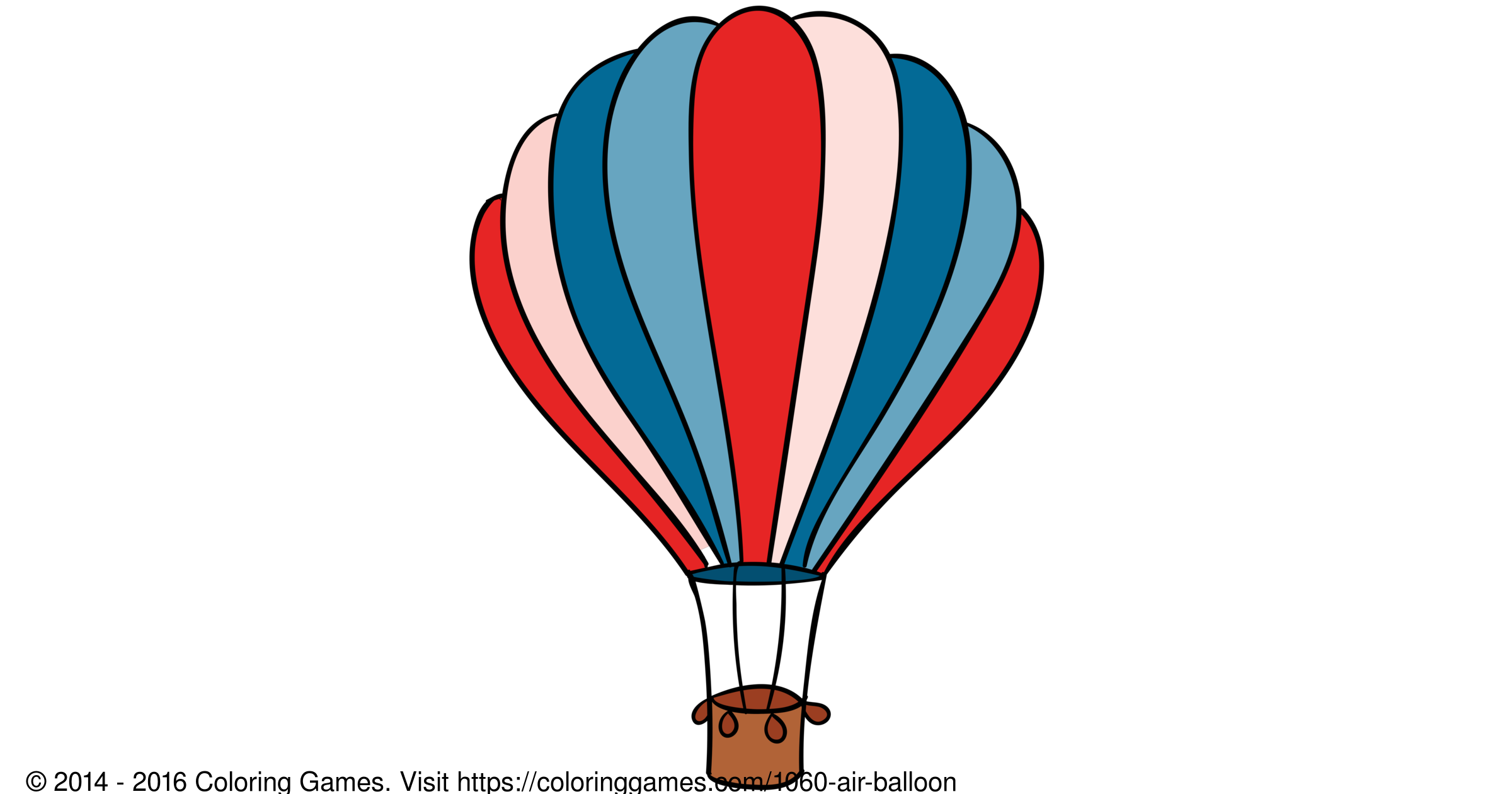 Air balloon coloring games and coloring pages for Air balloon games