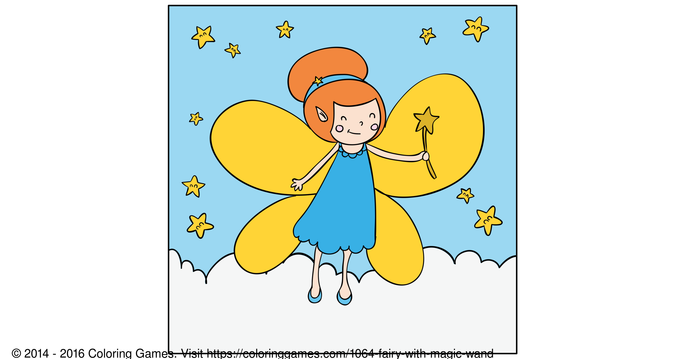 fairy with magic wand coloring games and coloring pages