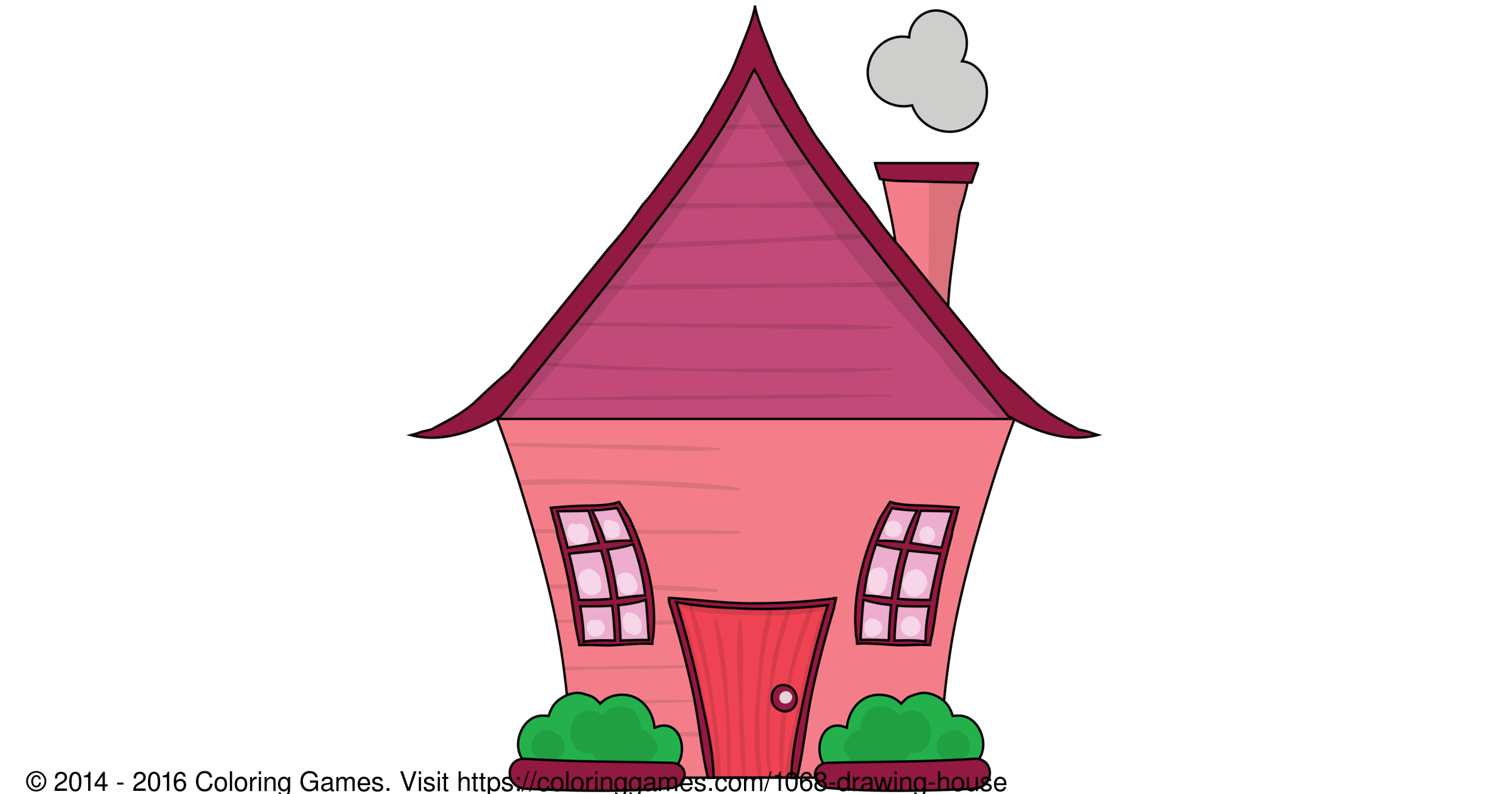 Drawing House - Coloring Games and Coloring Pages