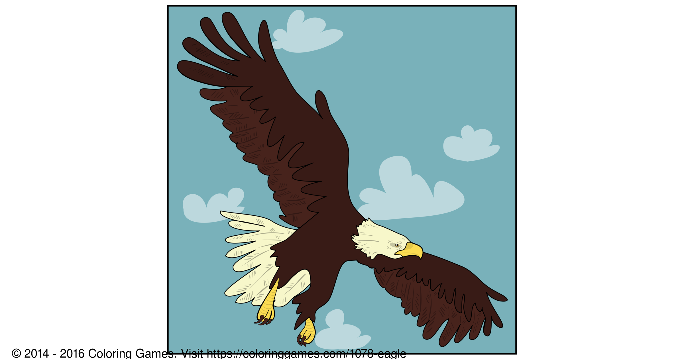 Eagle - Coloring Games and Coloring Pages