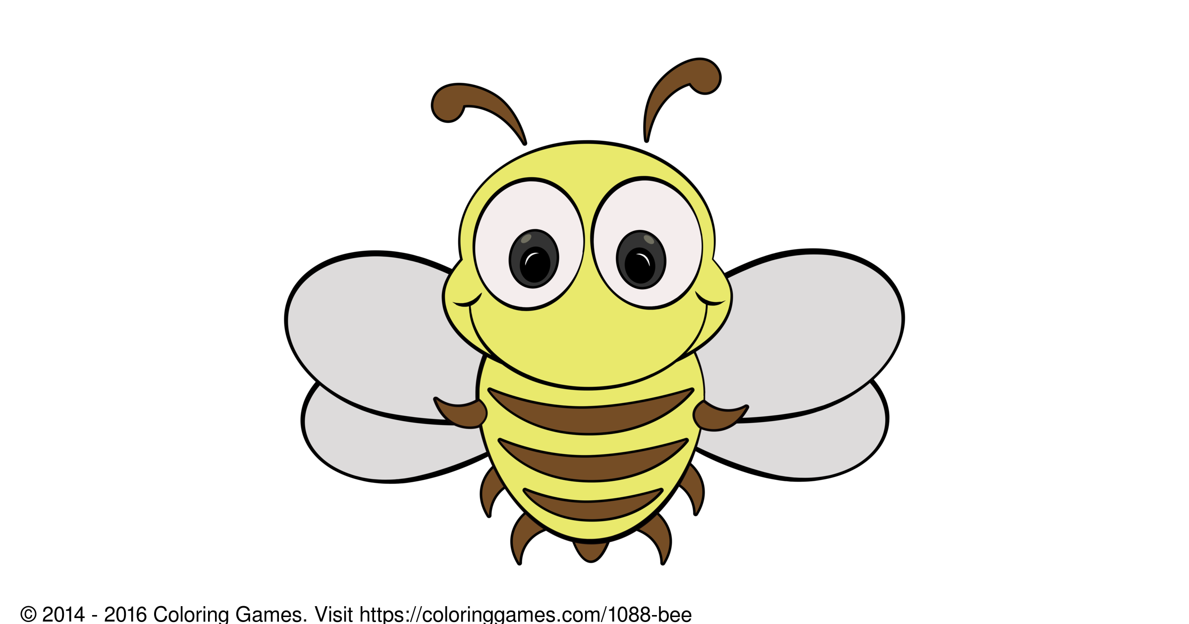 bee coloring games and coloring pages
