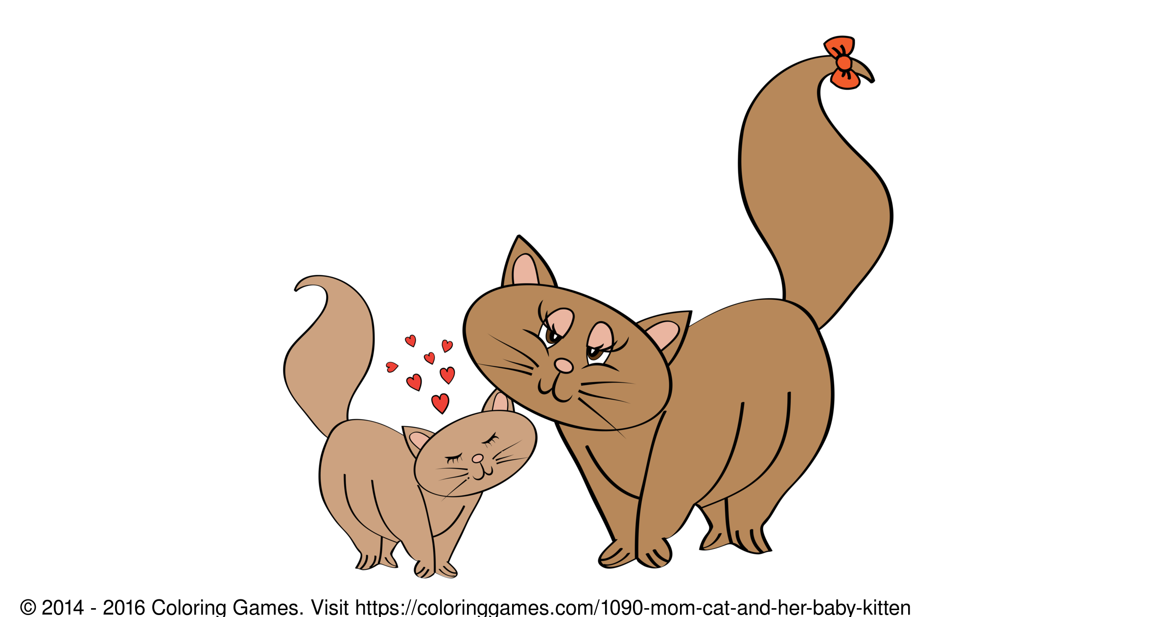 mother cat and kittens coloring pages cats u0026 kittens