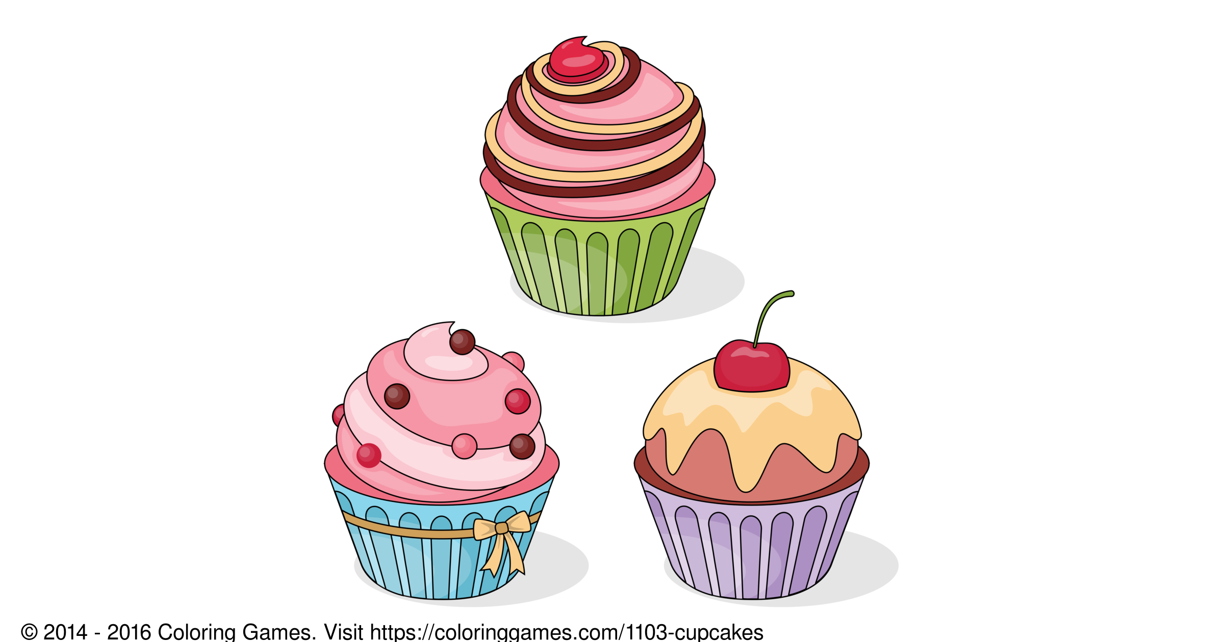 cupcakes coloring games and coloring pages