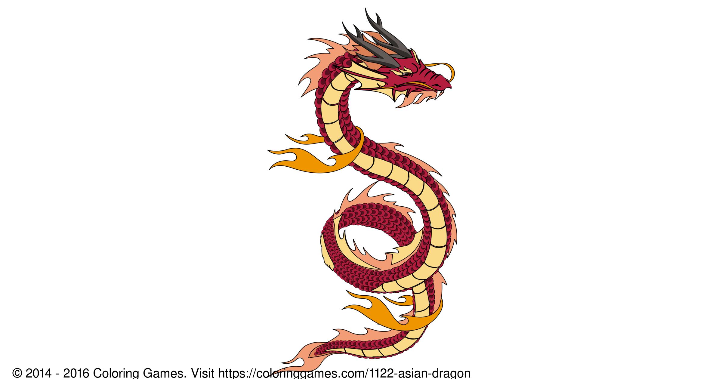 Asian Dragon Boyama Oyunlari Ve Boyama Sayfalari