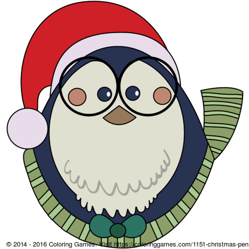 christmas penguin coloring games and coloring pages