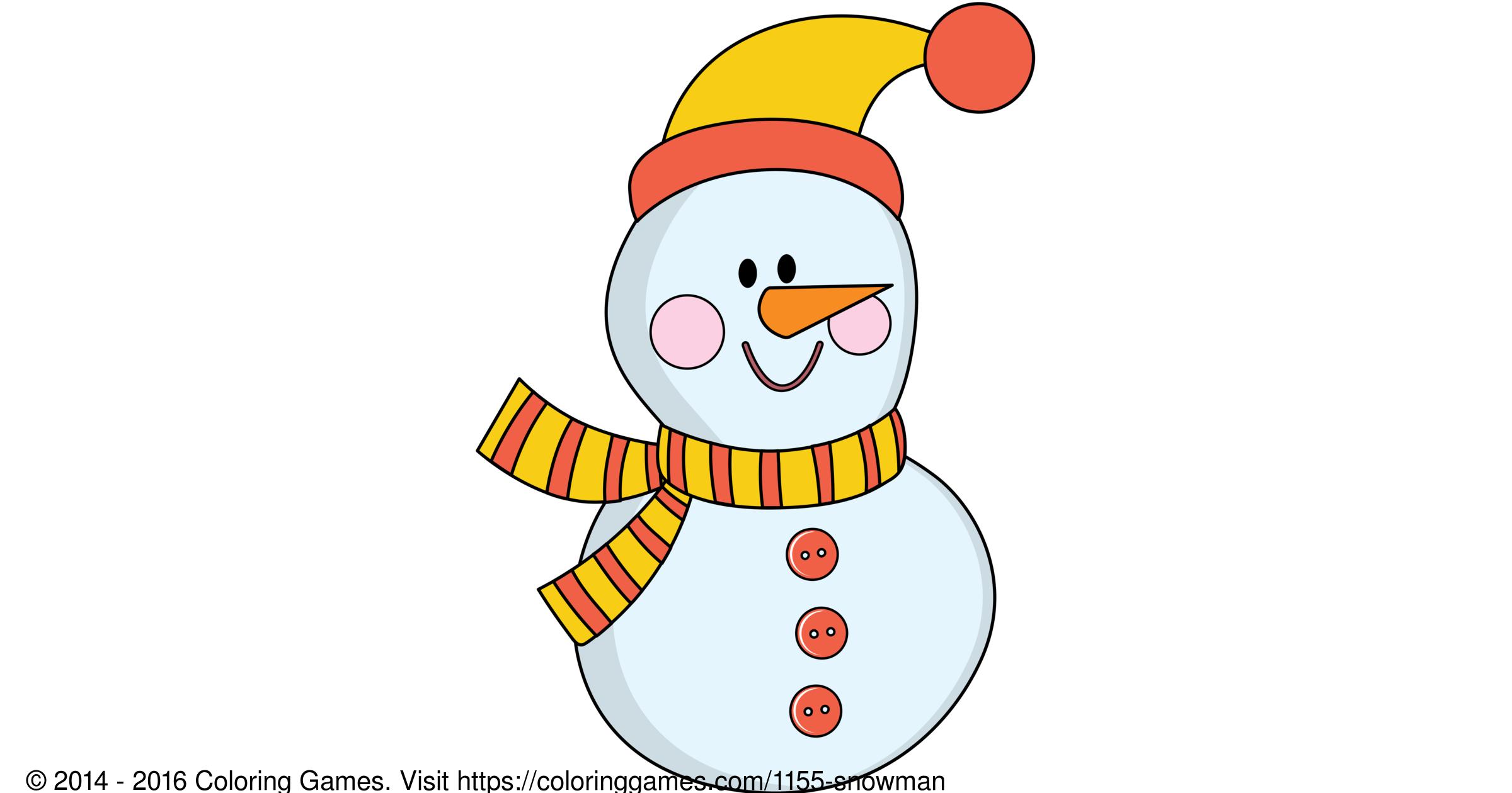 Snowman Boyama Oyunları Ve Boyama Sayfaları