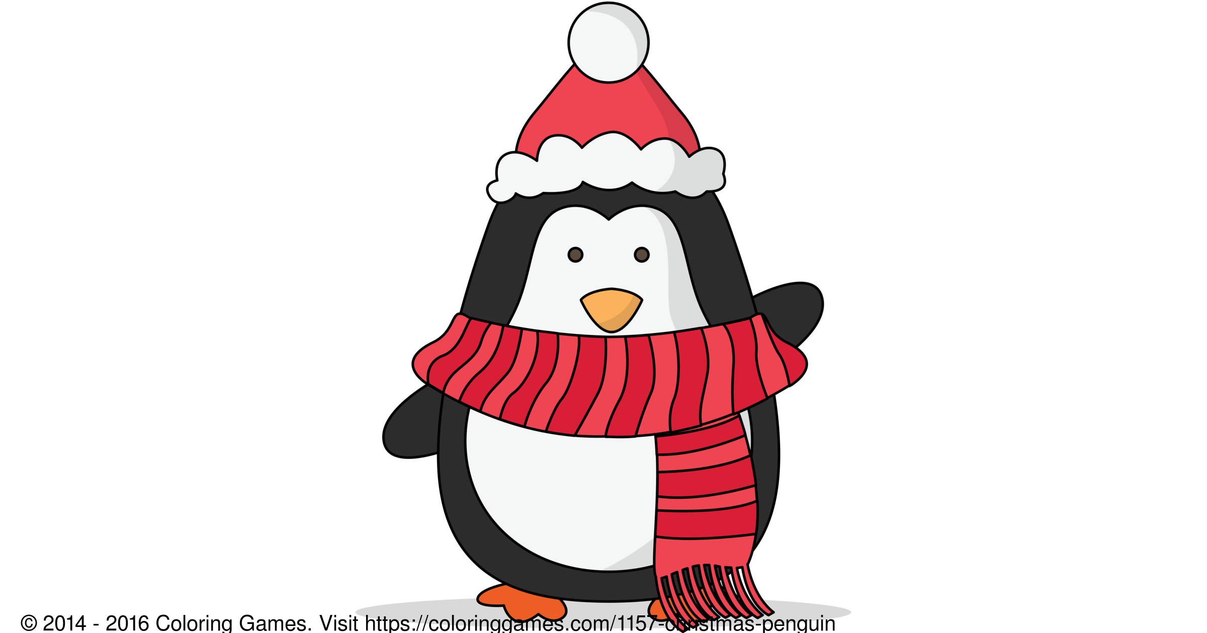 Christmas Penguin - Coloring Games and Coloring Pages