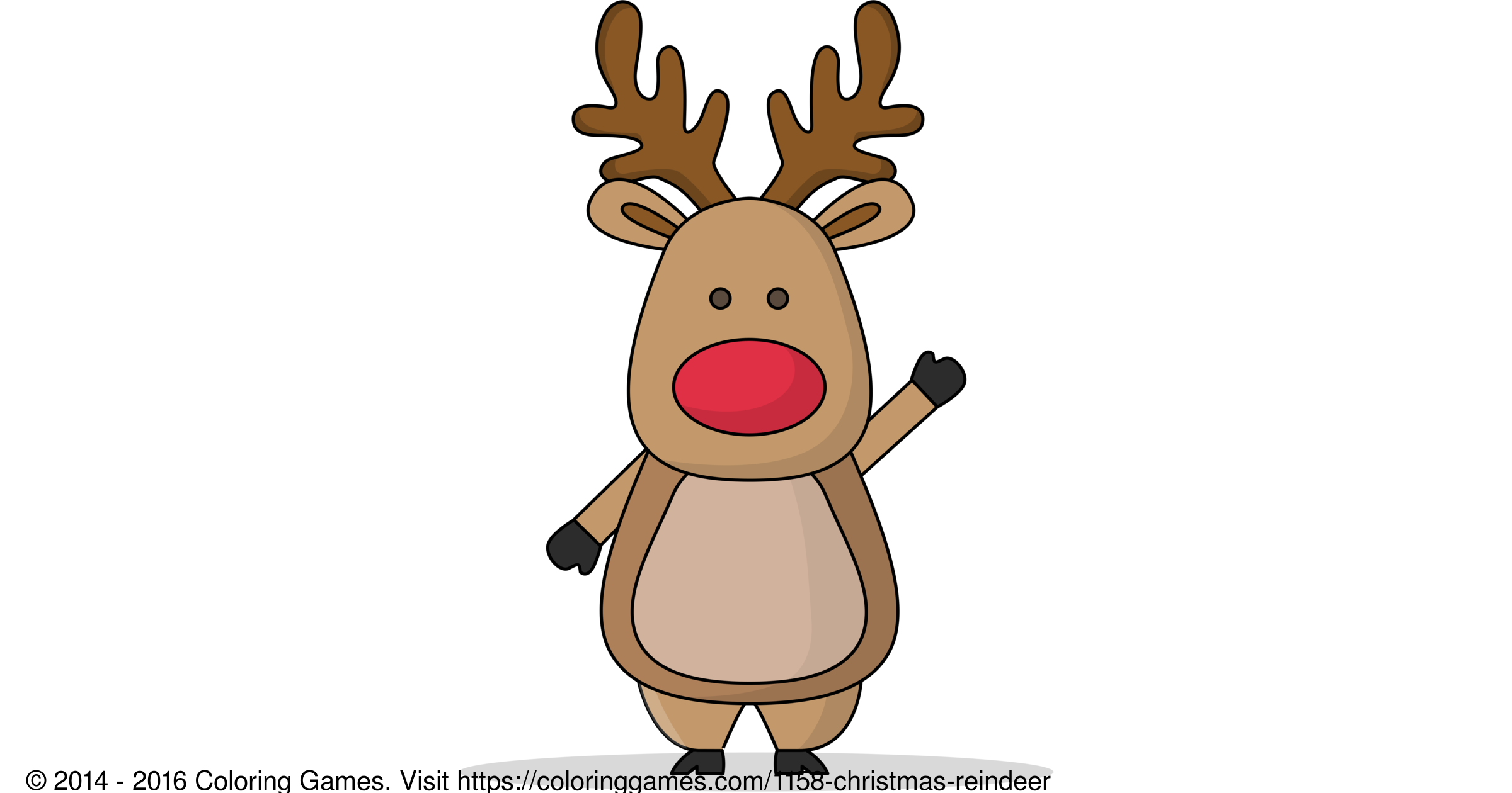 Christmas Reindeer - Coloring Games and Coloring Pages
