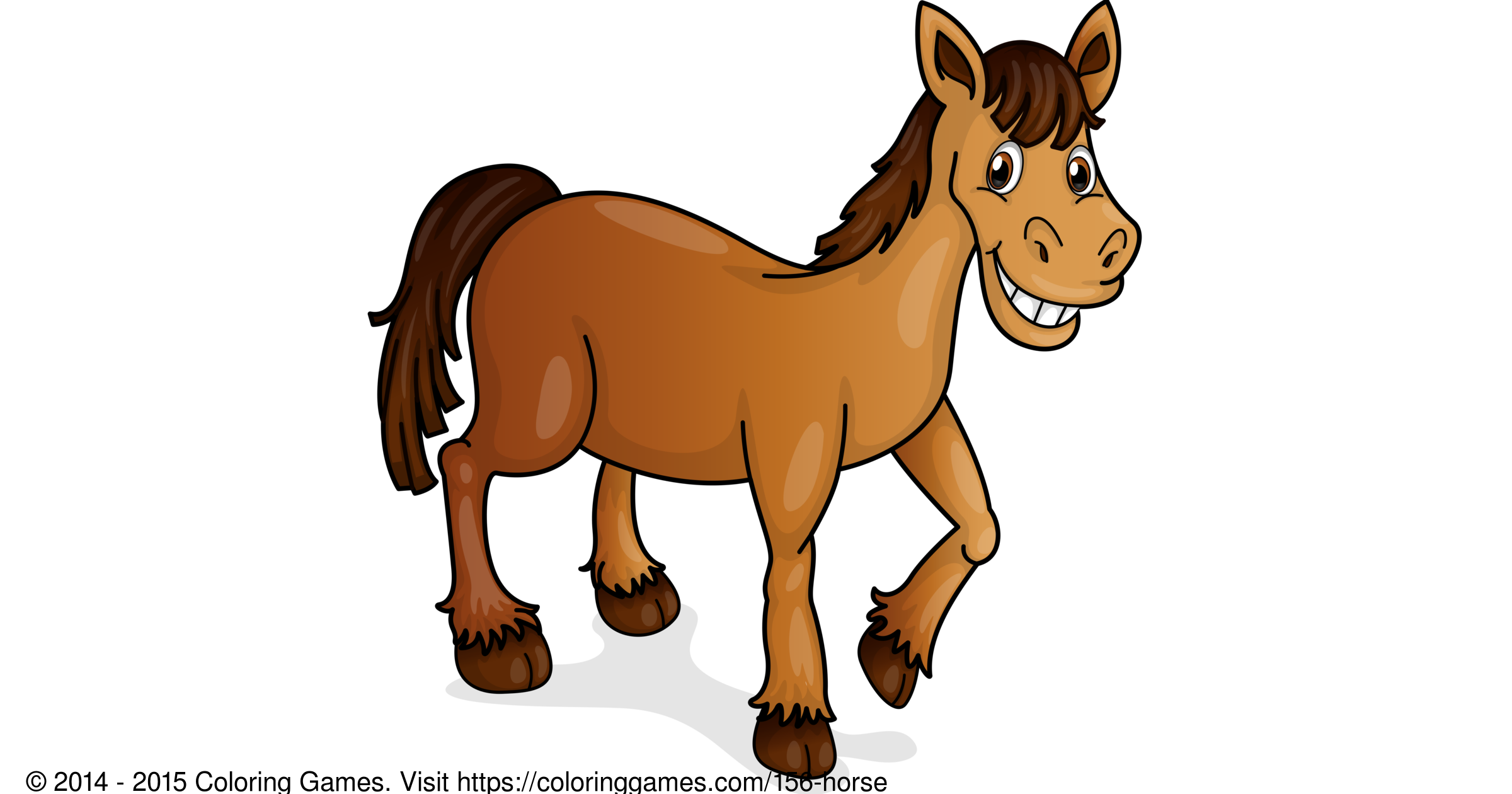 Horse - Coloring Games and Coloring Pages