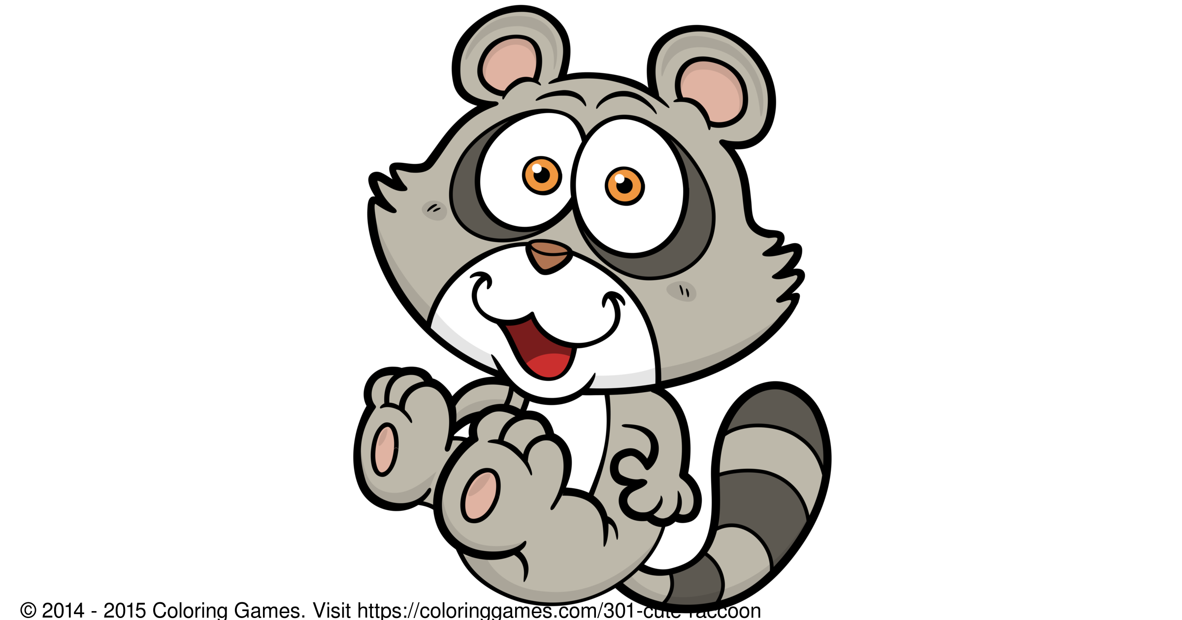 Cute Raccoon Coloring Games and Coloring Pages