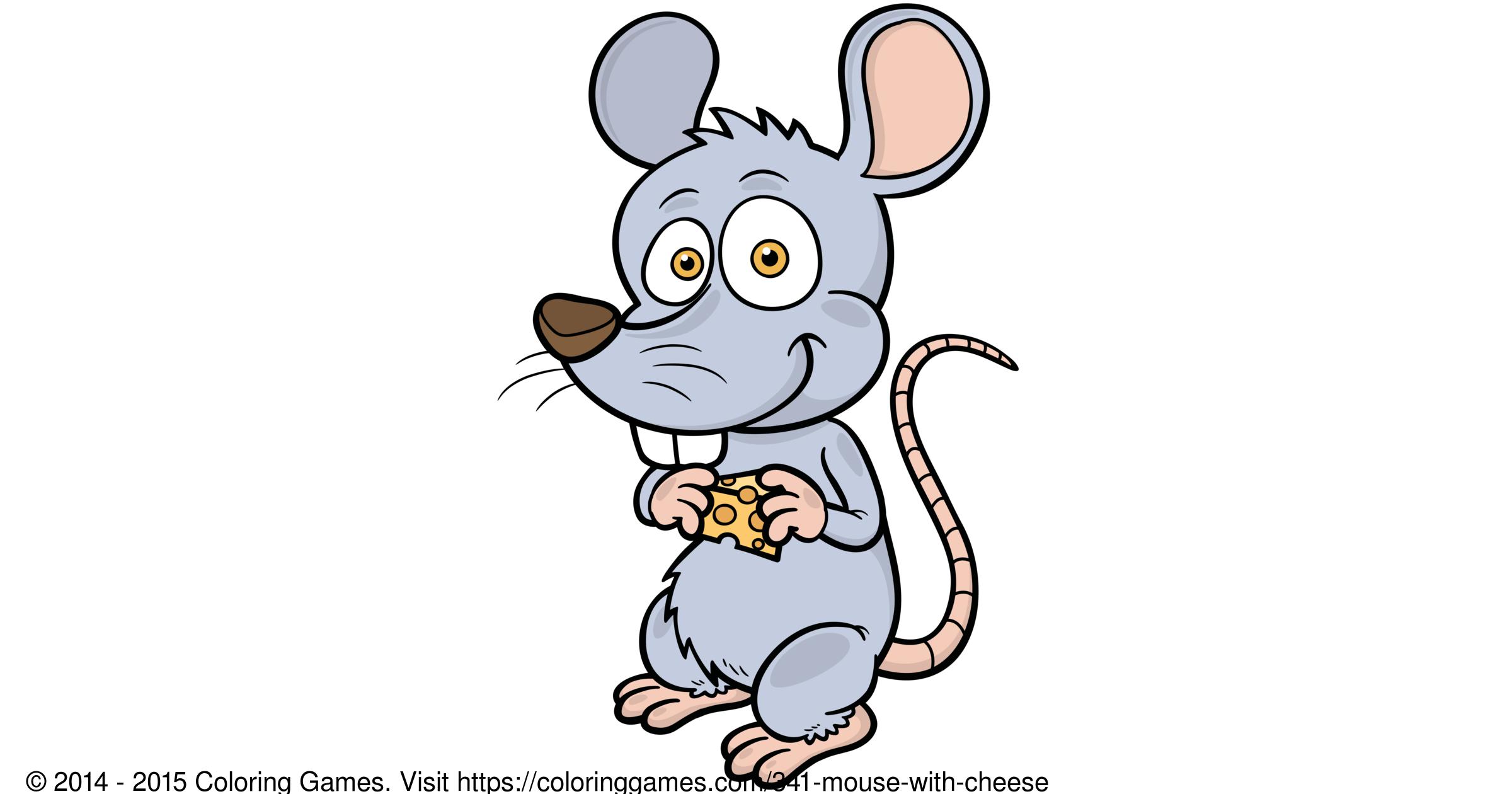 Fare Ile Peynir Boyama Oyunları Ve Boyama Sayfaları