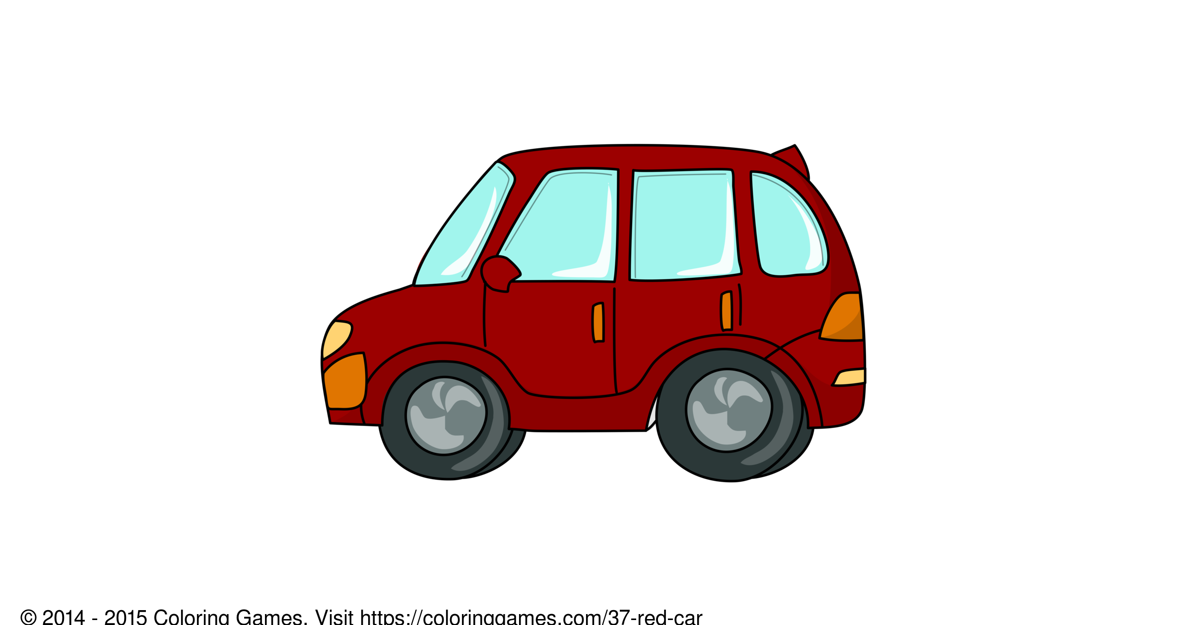 red car coloring games and coloring pages
