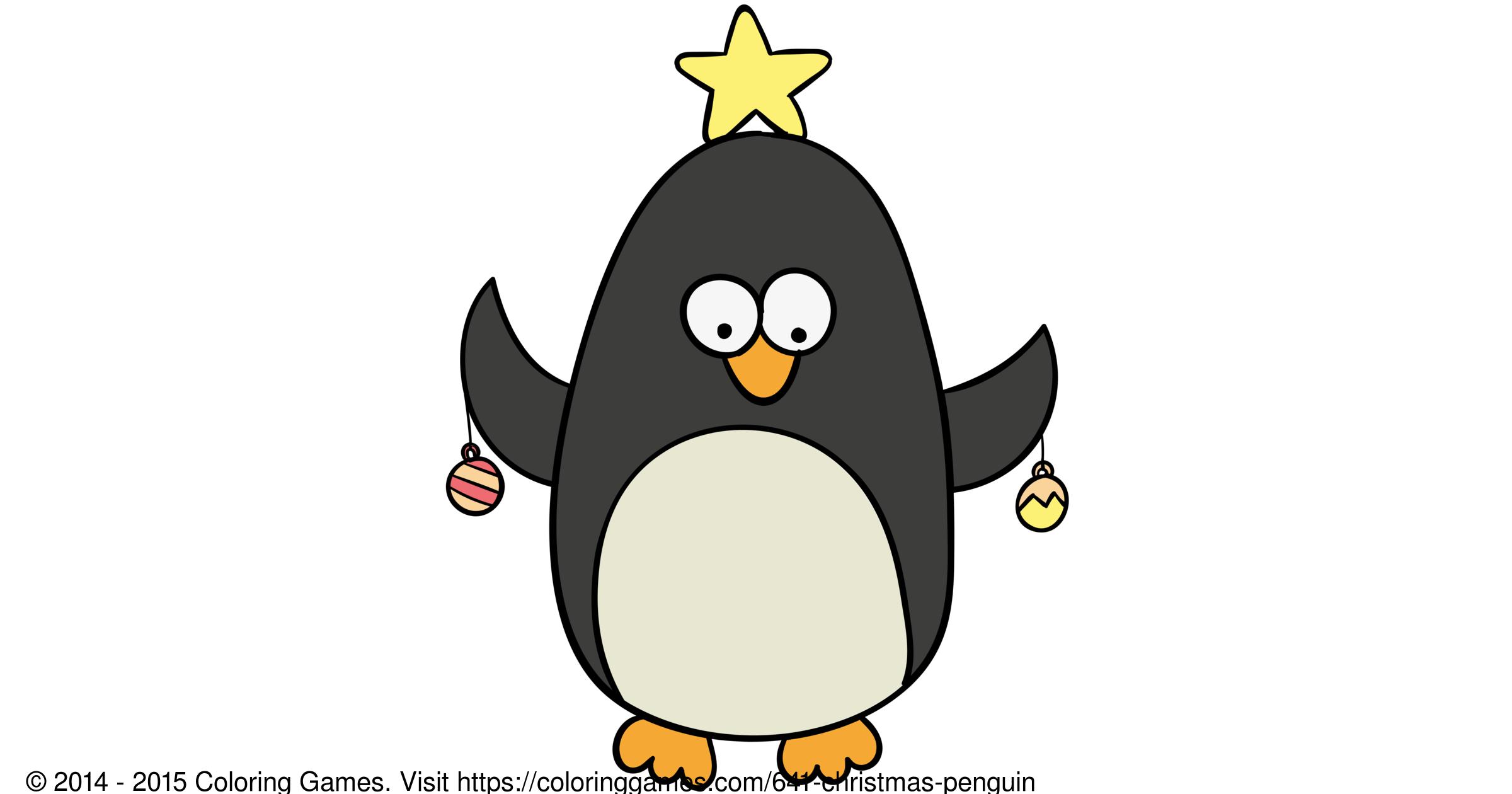 Christmas Penguin Boyama Oyunlari Ve Boyama Sayfalari