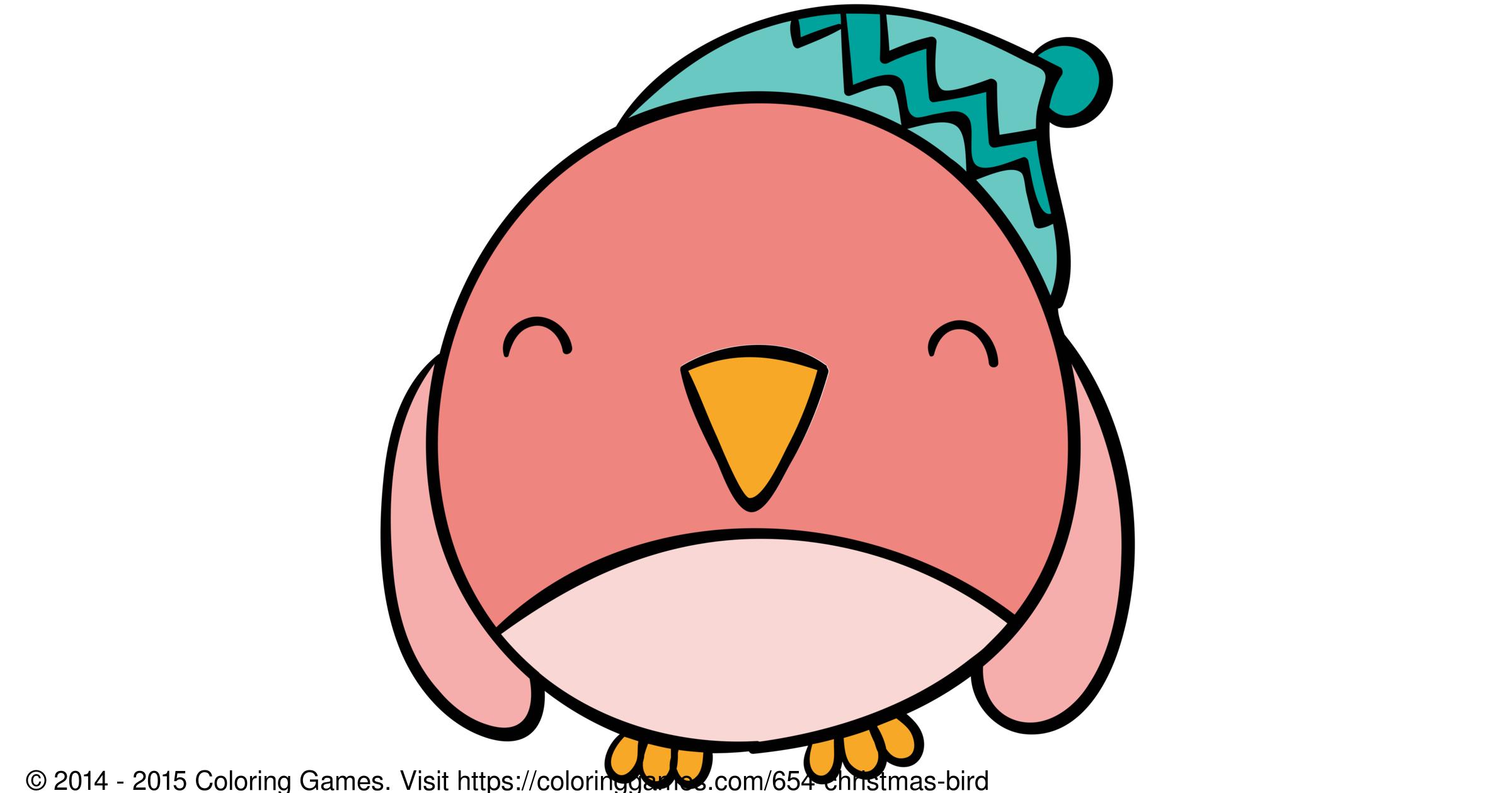 Christmas Bird Boyama Oyunlari Ve Boyama Sayfalari