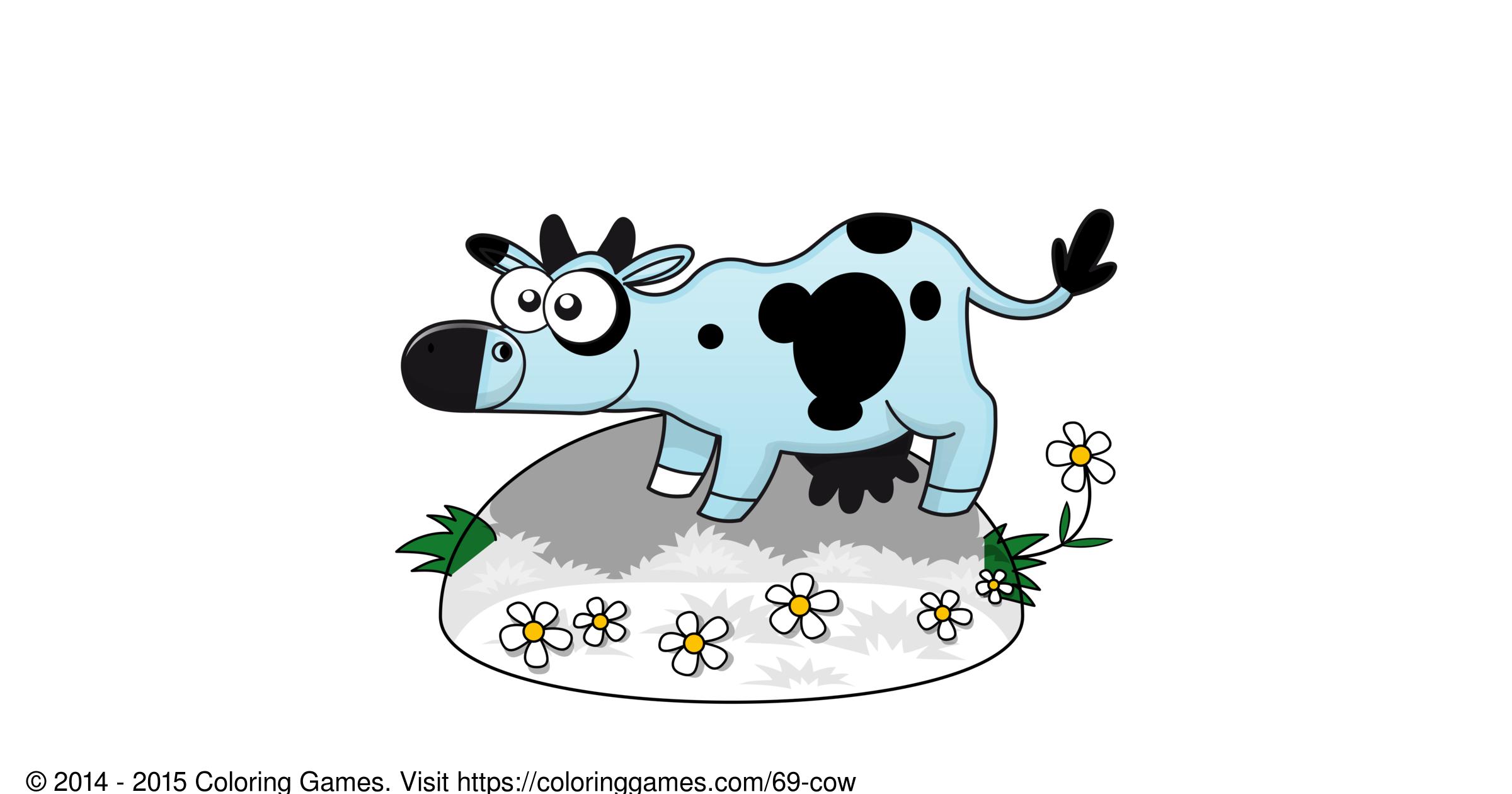 Cow Boyama Oyunlari Ve Boyama Sayfalari