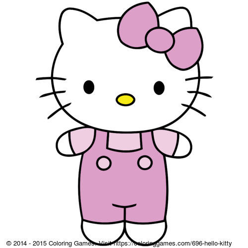 Hello Kitty - Värjäys pelit ja Värityskuvia lapsille