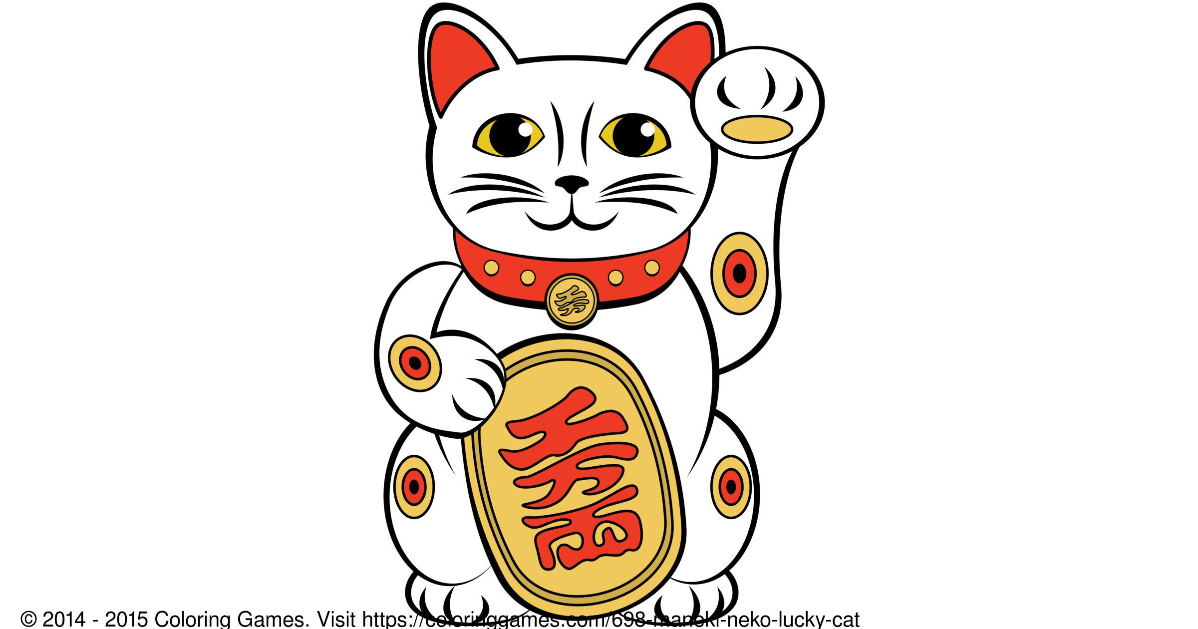 Maneki Neko Lucky Cat - Coloring Games and Coloring Pages