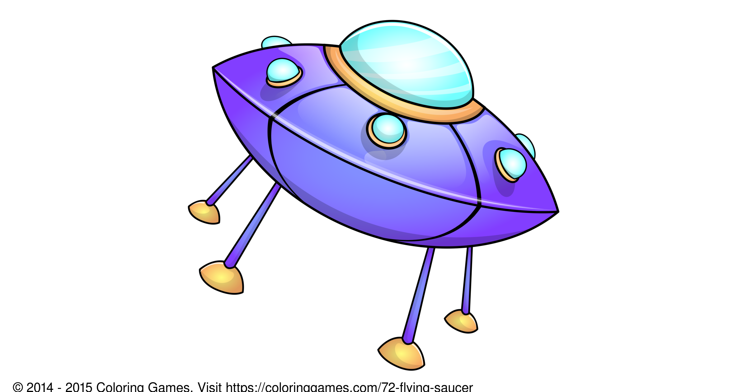 Flying saucer coloring games and coloring pages for Flying saucer coloring page