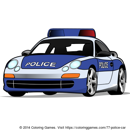 Police car - Coloring Games and Coloring Pages