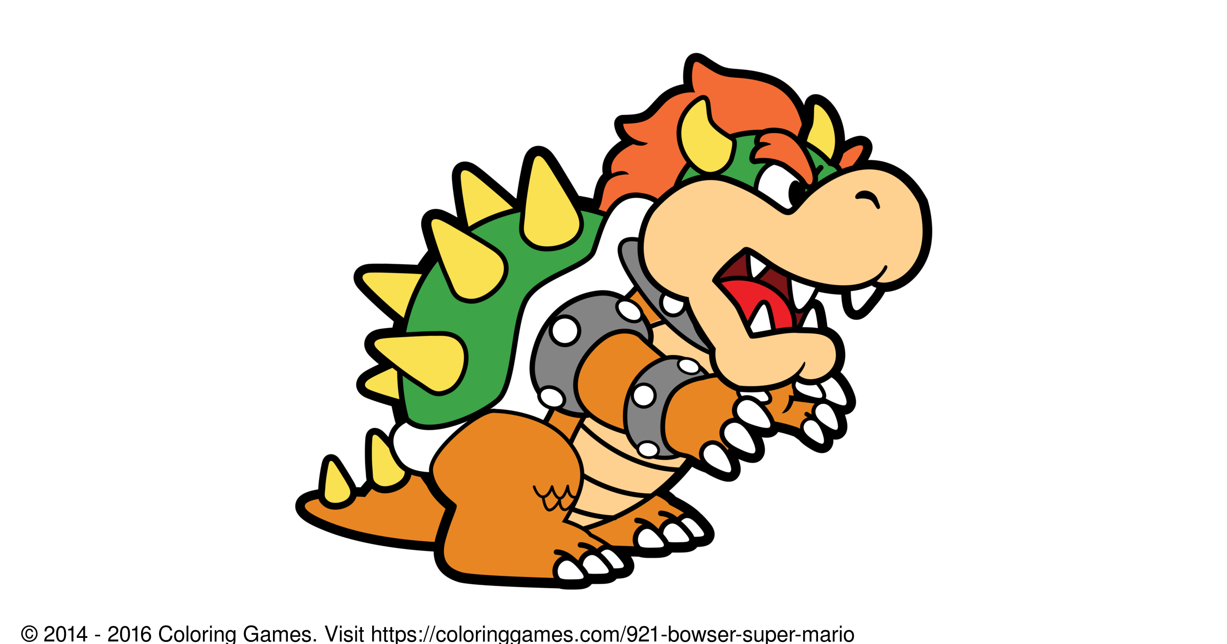 Bowser Super Mario Coloring Games and Coloring Pages