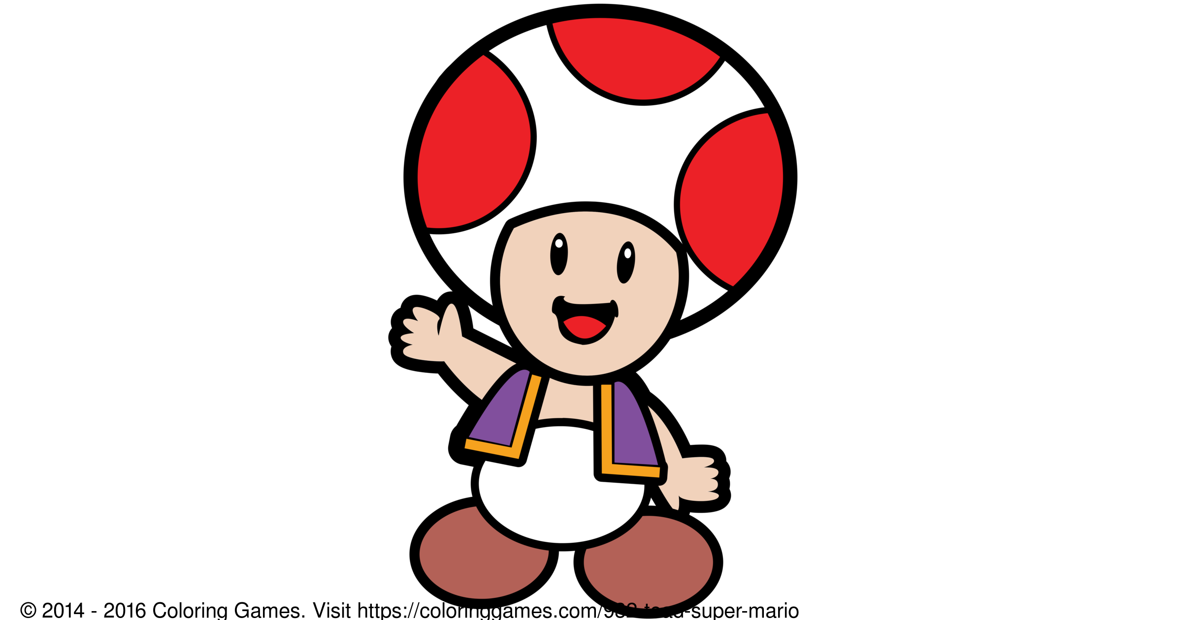 Toad Super Mario Coloring Games And Coloring Pages